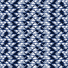 Abstract seamless blue pattern of vertical stripes doodles.