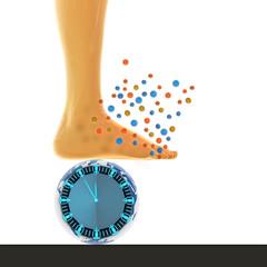 Fuß Bakterien - 3d Render