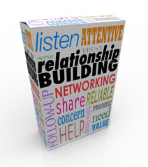 Relationship Building Product Box Advice Networking Grow Your Bu