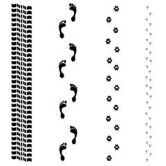 Four tracks set-illustration