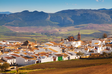Ordinary andalusian town in winter. Canete la Real