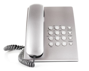 Telephone set isolated on white