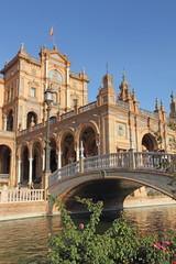 Spain, Andalucia, Seville, Plaza de Espana