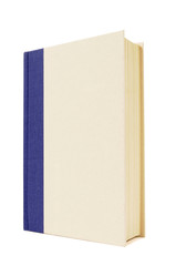 Blue and cream hardback book