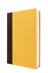 Black and yellow hardback book