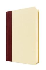 Burgundy and cream hardback book