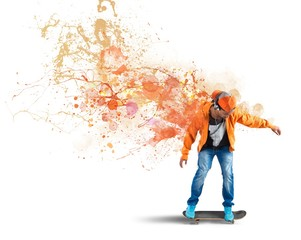 Orange skater