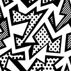 monochrome cloth seamless pattern