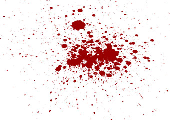 Abstract  splatter blood isolate background