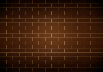 Vector brick wall brown background