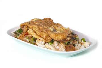 sea food  Thai fire rice