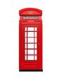 Leinwanddruck Bild - British Red Telephone Booth