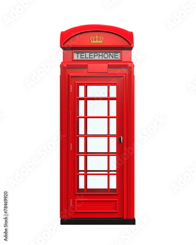 Fototapeta British Red Telephone Booth