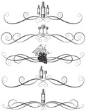 Sketchy wine scrollwork