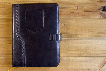 Office notebook with leather cover