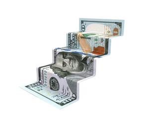 Staircase Money Origami