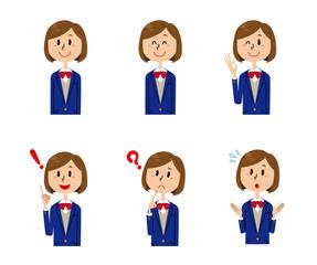 女子学生 表情