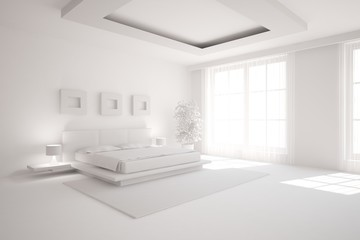 grey interior design of bedroom