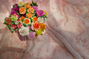 wildflowers on pink pattern