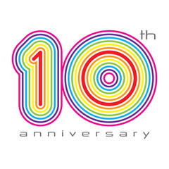 10 years anniversary, concept vector illustration