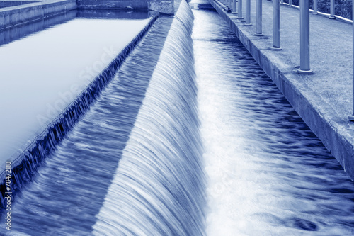 Modern urban wastewater treatment plant. - 78472118