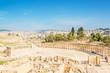 Roman Oval Forum in Gerasa, present-day Jerash, Jordan