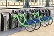 Leinwanddruck Bild - Rental bike City bikes for rent Rental bicycles dockmotor
