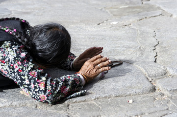 Worship of the people in Tibet