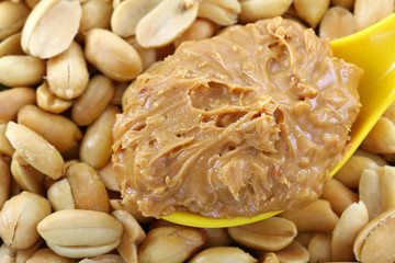 Creamy crunchy peanut butter on roasted nuts