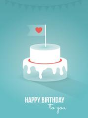 Happy birthday, cake