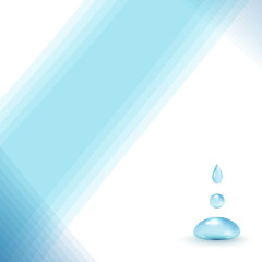 light blue background with drops of pure water
