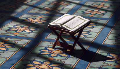 Quran - holy book of Muslims, in the Malaysian mosque