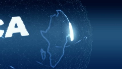 africa Map World map News Communication blue