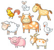 Cartoon farm animals - 78474731