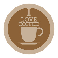 Coffee icon or sign, vector
