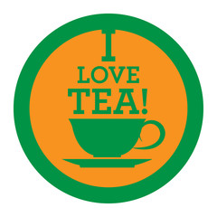 Tea icon or sign, vector