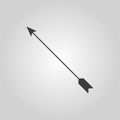 The arrow icon. Arrow symbol. Flat