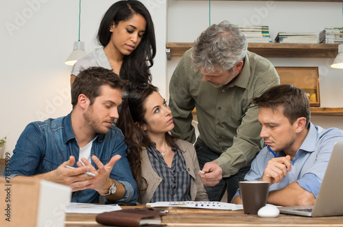 canvas print picture Business meeting