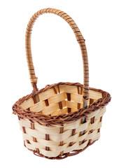 light basket isolated on white