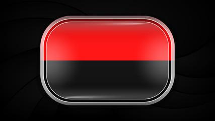 Ukraine. Vector Flag Button Series