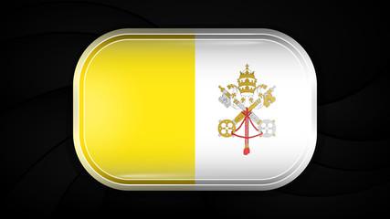 Vatican City. Vector Flag Button Series