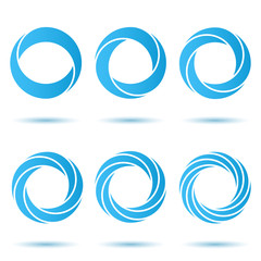 Segmented o letter set