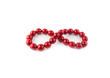 Leinwandbild Motiv Red round beads