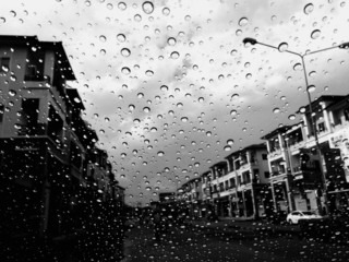 B&W after rainy day.
