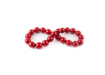 Red round beads