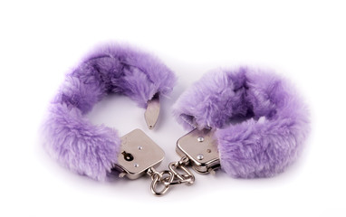 Sexual cuffs with purple fur