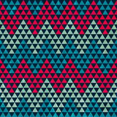 zigzag triangle seamless pattern