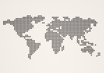 World map white and gray