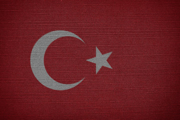 woven flag of Turkey
