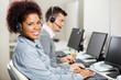 Leinwanddruck Bild - Customer Service Representatives Working In Office